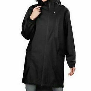 Kristen Blake Women's Hooded Long Rain Topper Coat